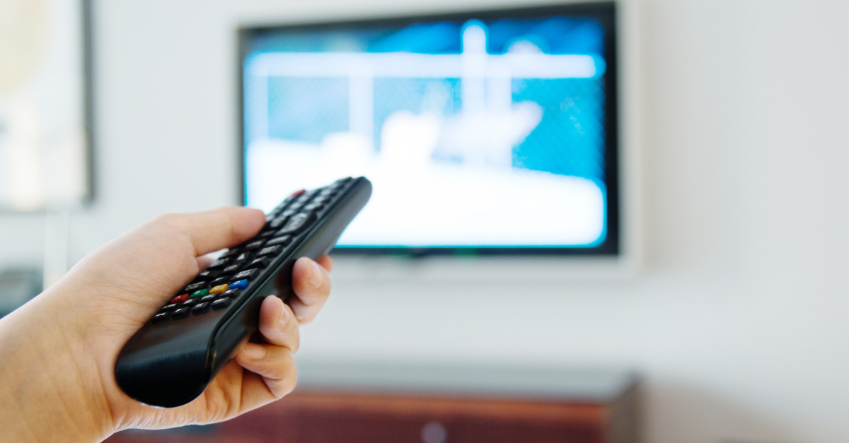 Turning TV off to save energy