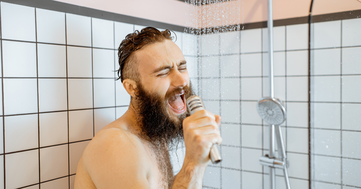 Showering less to save energy