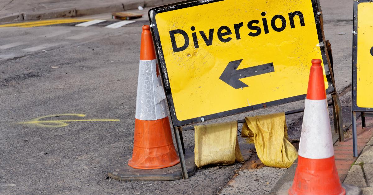 Road diversion in Birmingham CAZ